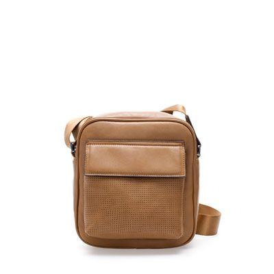 PERFORATED MINI MESSENGER BAG - Bags - Man | ZARA