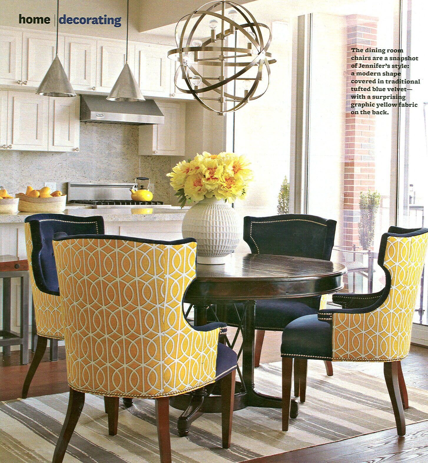 Better Homes And Gardens Kitchen Table Set Our Dwellstudio For Robert Allen Gate Citrine Fabric Looks