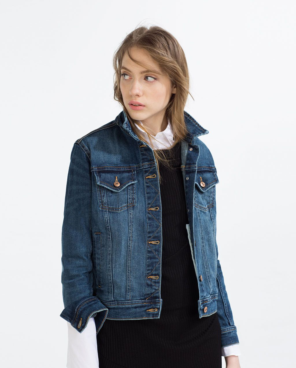 Basic Denim Jacket D E N I M O U T E R W E A R Pinterest