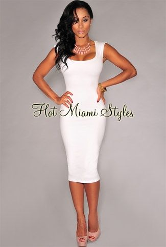 dc6e6ef3f5 Off-White Floral Textured Sleeveless Midi Dress Womens clothing clothes hot  miami styles hotmiamistyles hotmiamistyles.com sexy club wear evening  clubwear ...