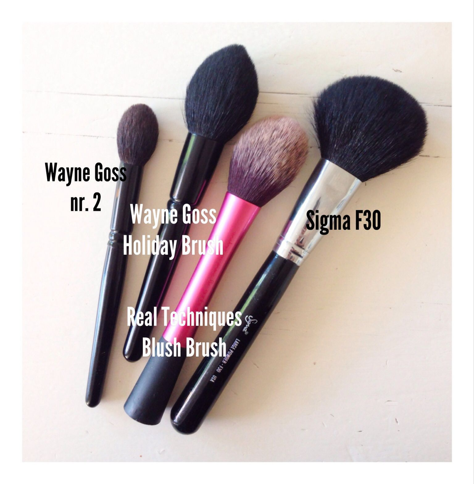 Wayne Goss, Real Techniques and Sigma face brushes