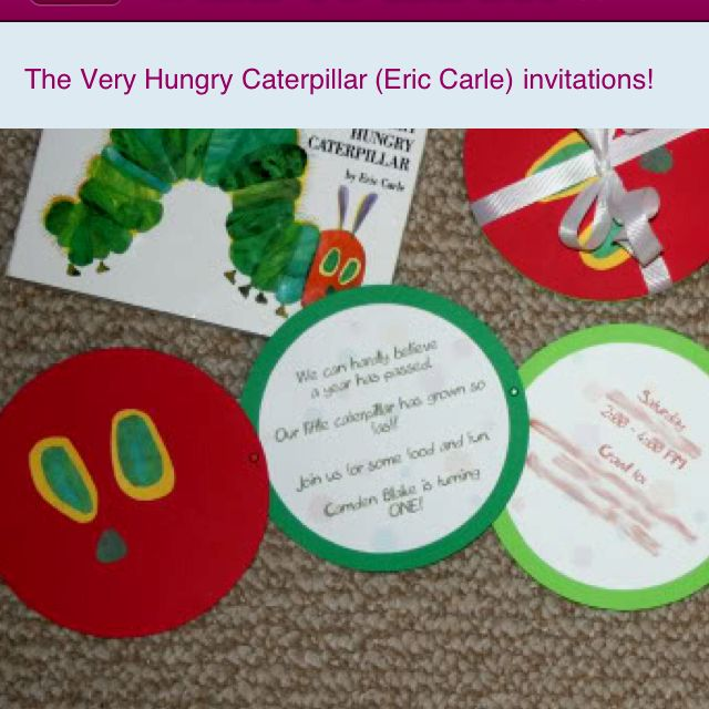 Pinned with pinterest app for ipad get it at the app store cute handmade invites for hungry caterpillar bookmarktalkfo Image collections