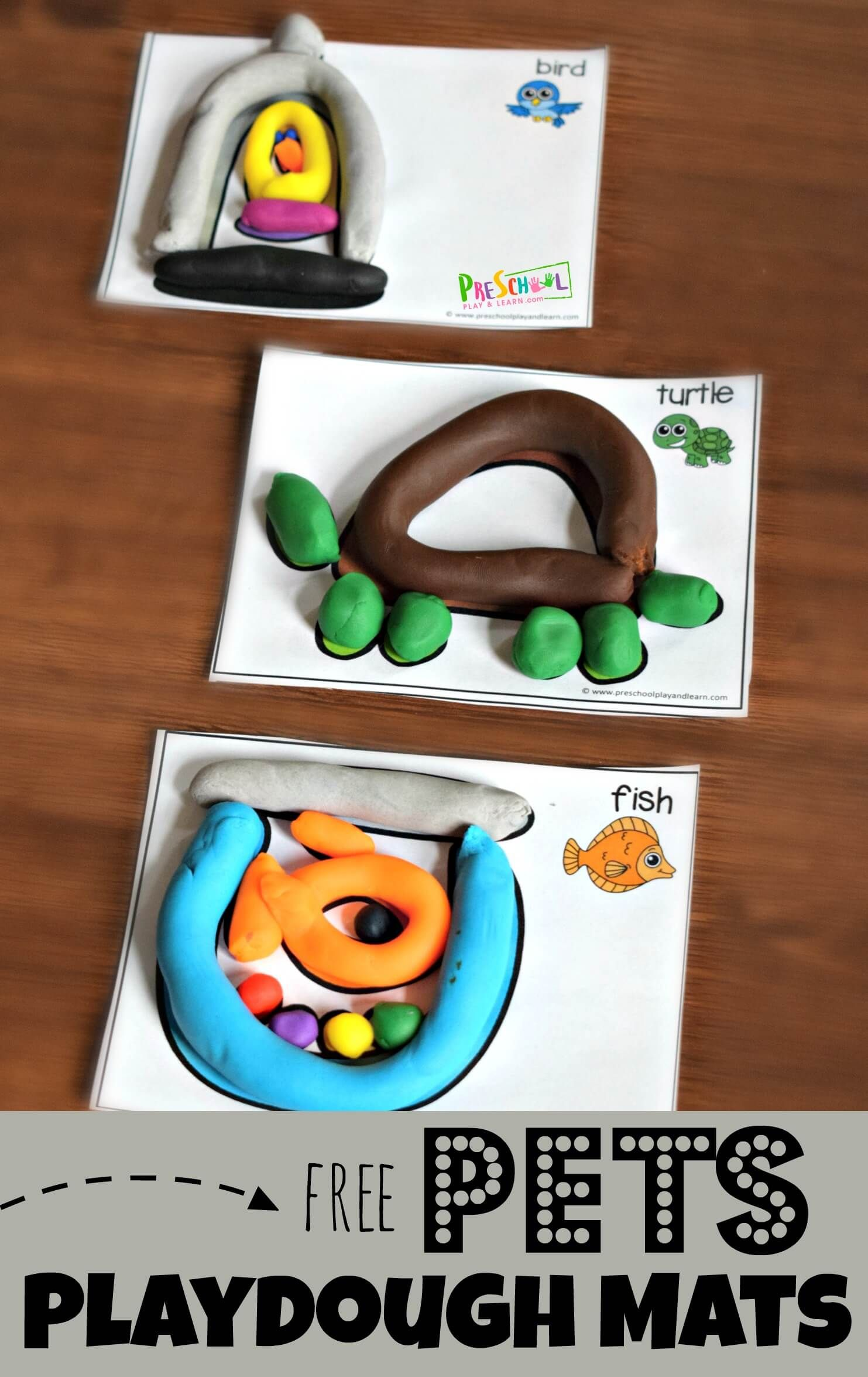 Free Pets Playdough Mats These Super Cute Preschool Printables Allow Kids To Strengthen Hands Have Pets Preschool Theme Pets Preschool Preschool Printables