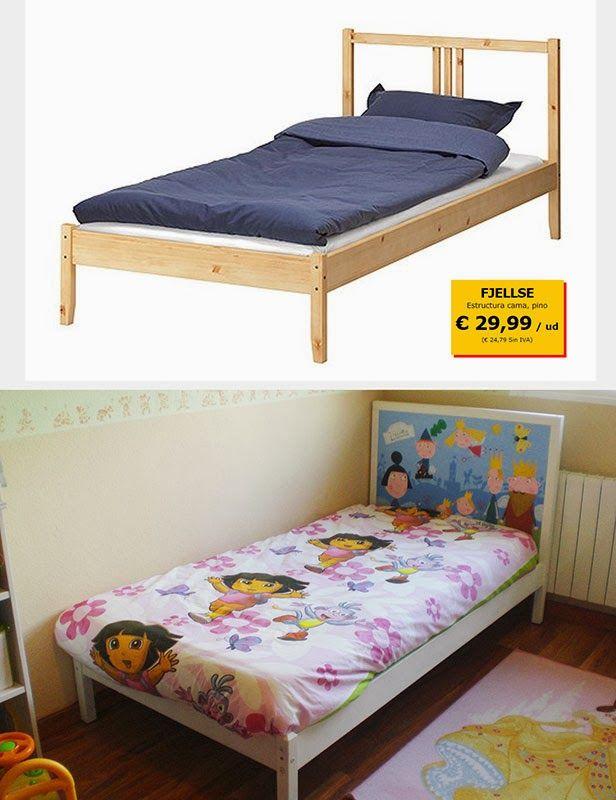 Una cama infantil personalizada piratas de ikea para los m s peque os pinterest - Cama infantil ikea ...