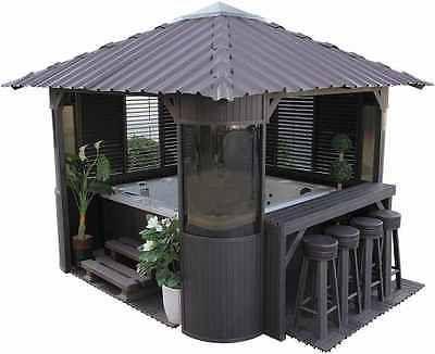 Garden Hot Tub Luxury Spa Gazebo Jacuzzi Relax Bar Kit 3 Side Panels Hot Tub Gazebo Cheap Patio Patio Table Set