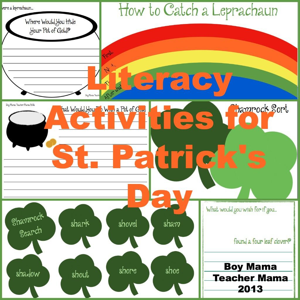 Teacher Mama Literacy Activities For St Patrick S Day And Giveaway