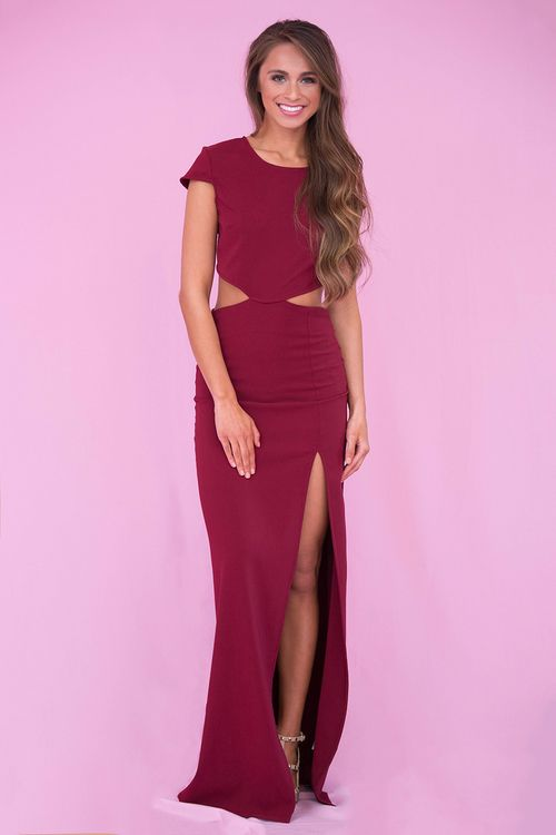 Leave Me Speechless Maxi Dress Wine - The Pink Lily | The Pink Lily ...