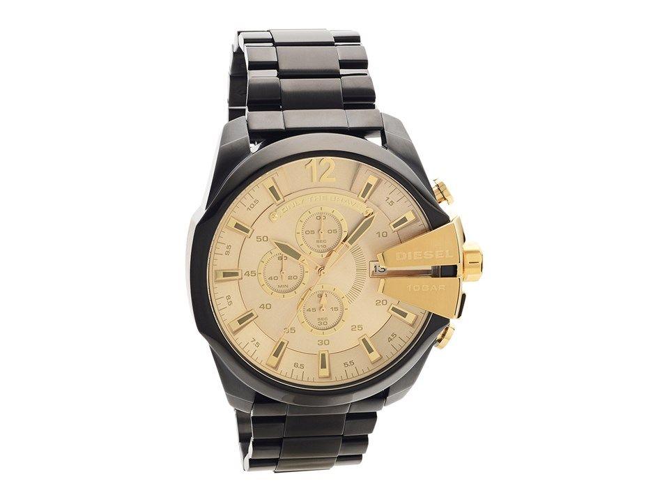 b97d409ec8d Diesel DZ4485 Mega Chief Black Ion Plated Bracelet Watch - W11156 ...