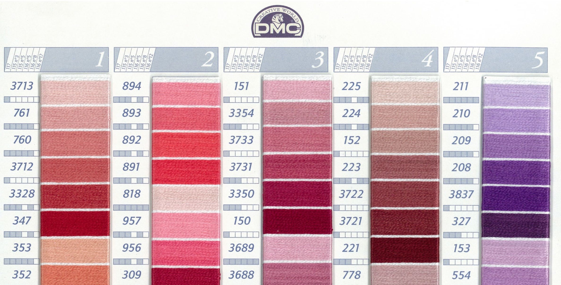 Color cardg 23741206 dmc floss color chart and numbers color cardg 23741206 dmc flosscolour nvjuhfo Images