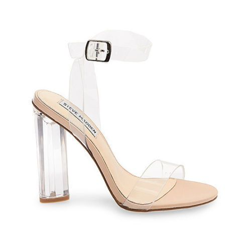 Steve Madden Teena Clear Heels Sandals Yeezy 8.5