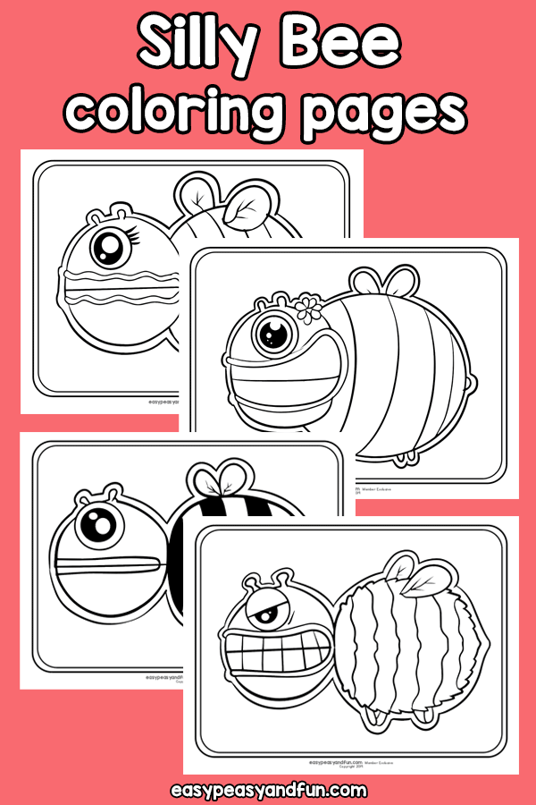 Silly Bee Coloring Pages Bee Coloring Pages Bug Coloring Pages Coloring Pages