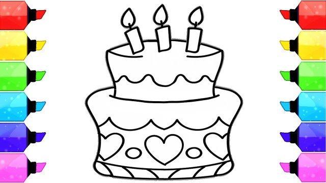 20 Pretty Image Of How To Draw A Birthday Cake Birthday Cake