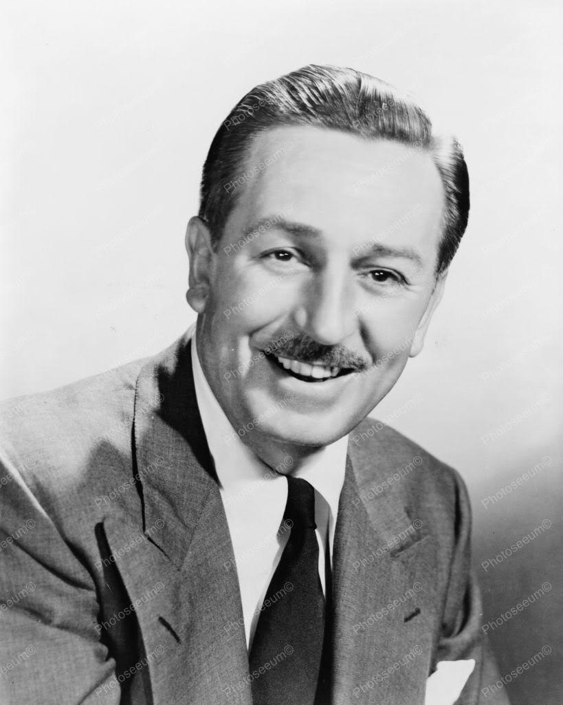 Walt Disney Smiling Classic Portrait 8x10 Reprint Of Old