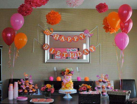Girly Dinosaur Party Tissue Paper Pom Poms By Shopsimplynesting Also St Birthday Girl Rh Fi