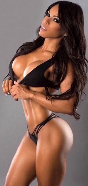 Busty Muscular Amazon Goddess Physique Of Sexy Fitness Model Health Workouts