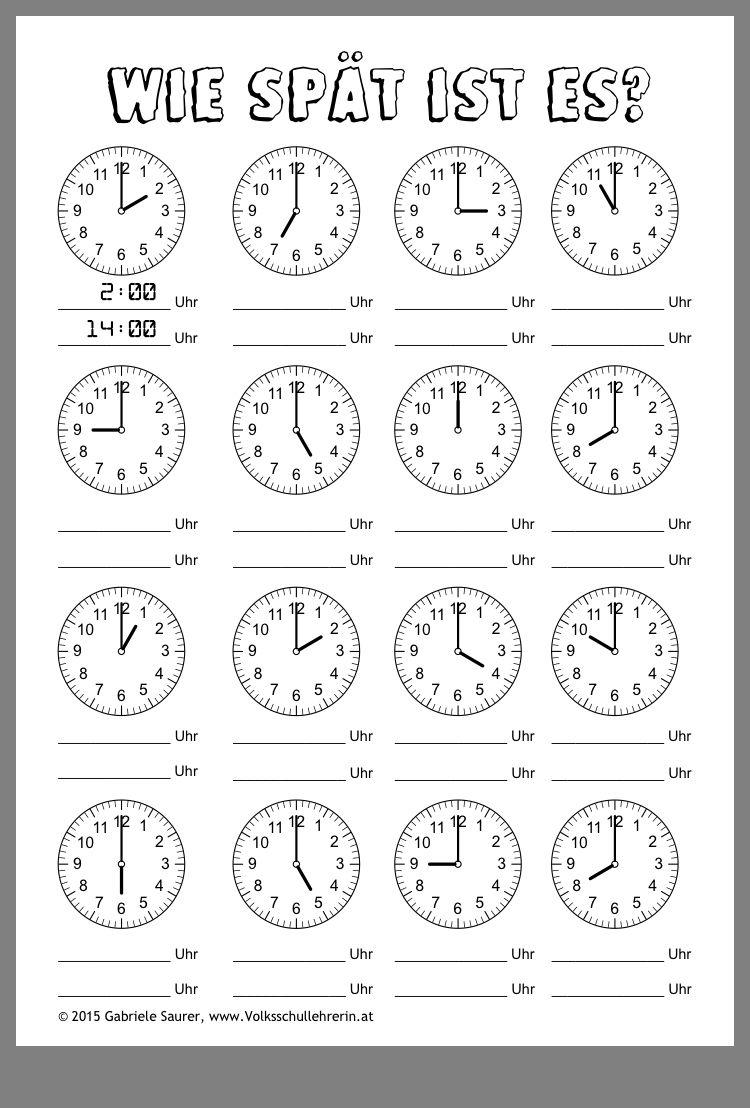 20 Uhr / Zeit lernen   time Ideen   zeit lernen, uhrzeit lernen ...