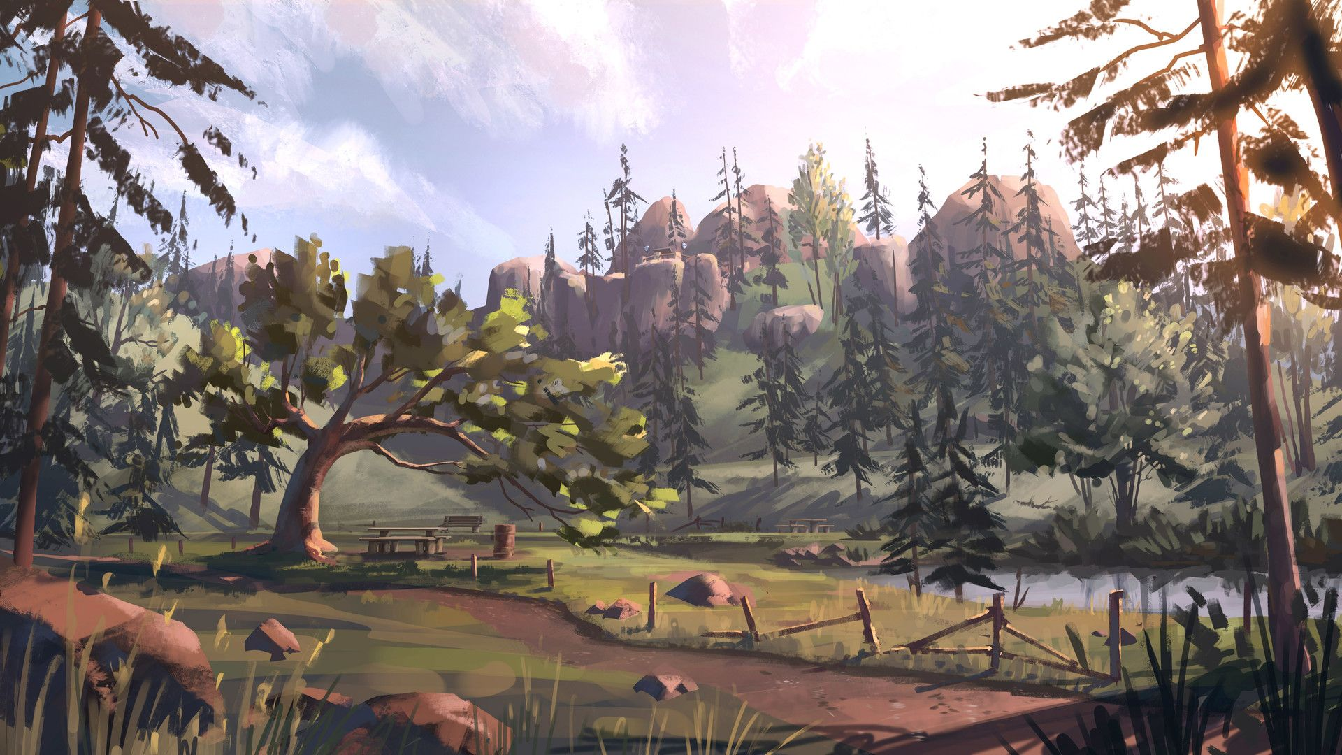 Life Is Strange Before The Storm Concept Art The Leaning Tree