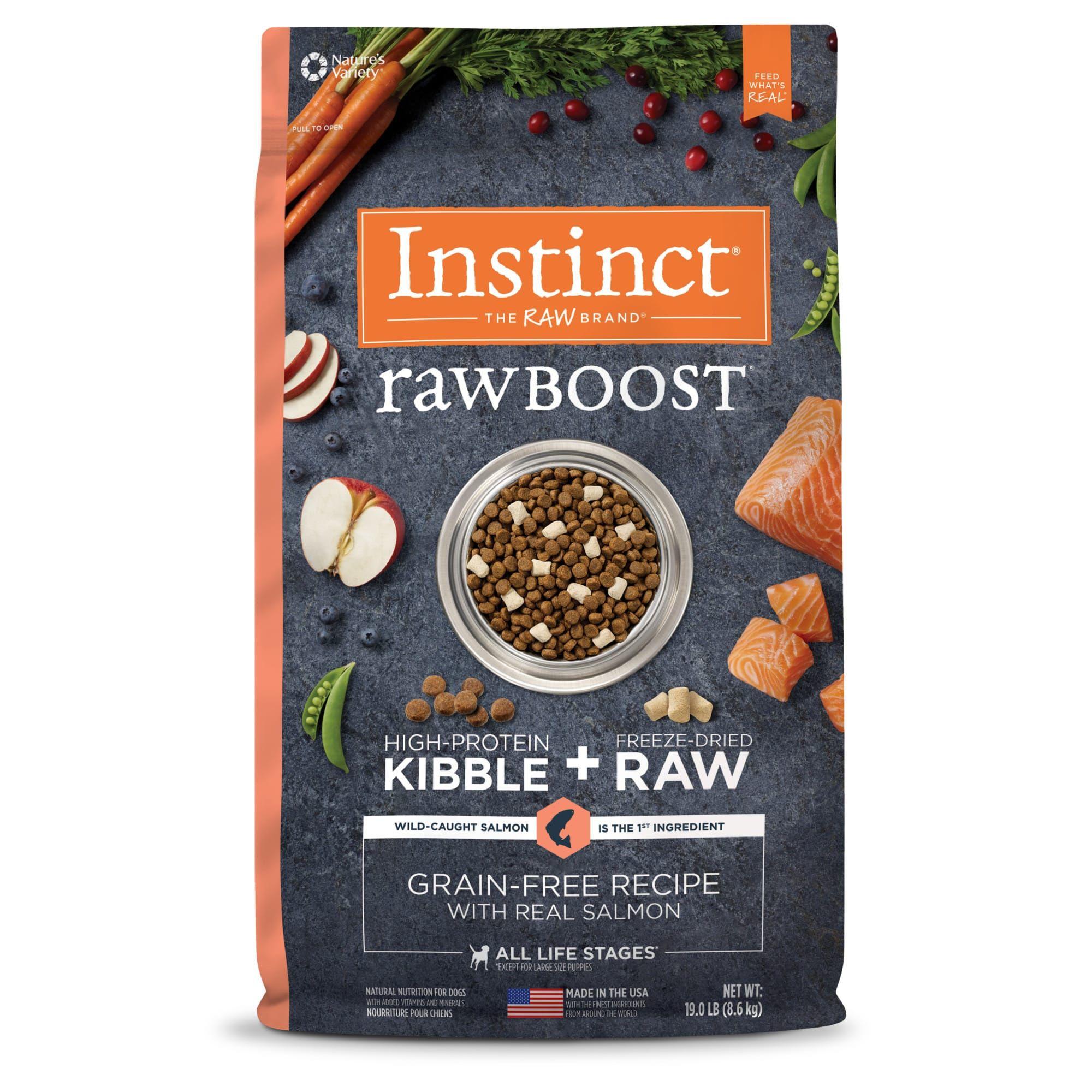Instinct Raw Boost Grain Free Recipe With Real Salmon Dry Dog Food