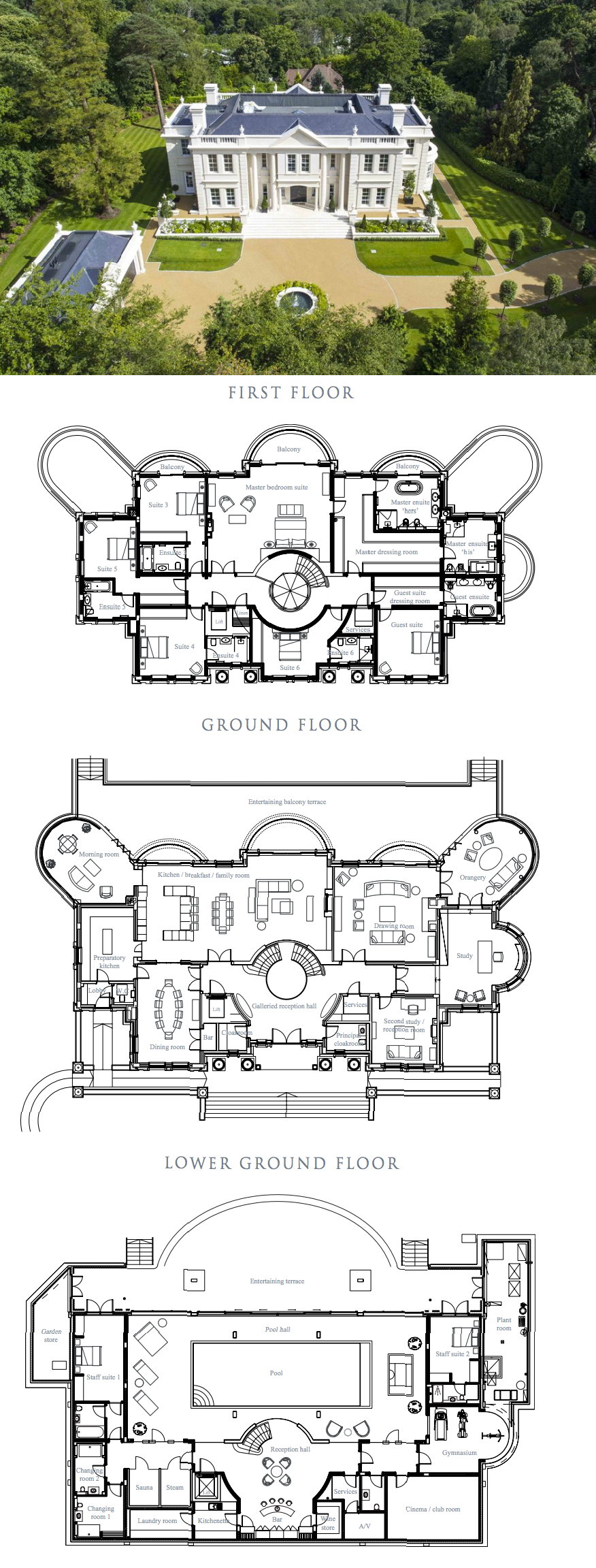 The Ramparts A Stately Newly Built Mansion In Surrey England Floor Plans House Plans Mansion Luxury House Plans Mansion Designs