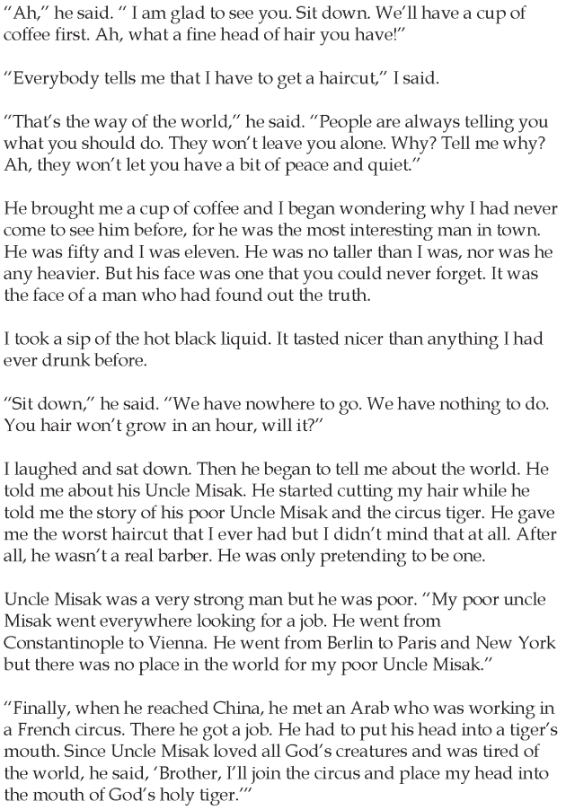 Grade 5 Reading Lesson 25 Short Stories The Barbers Uncle 2 ...
