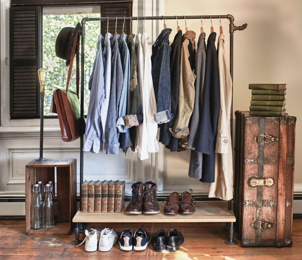 Decorative Clothing Racks With Vintage Style Ideas Wrought Iron