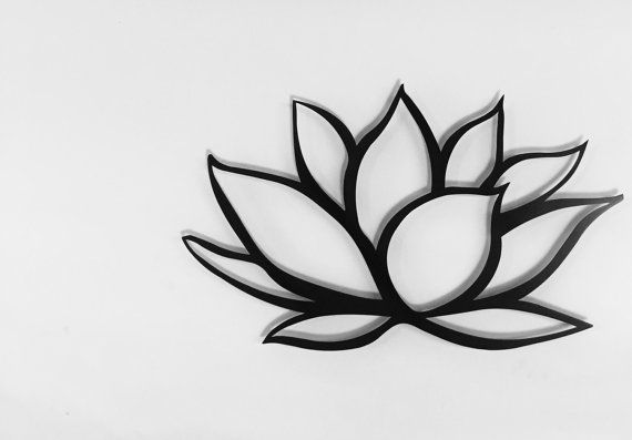 Black Lotus Flower Metal Wall Art Lotus Metal By Inspiremetals