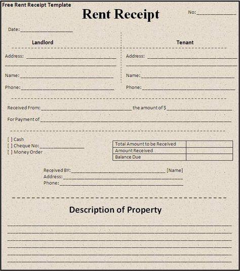Format For Rent Receipt Inspiration Rent Receipt Template  House Rent Format  Pinterest  Receipt .
