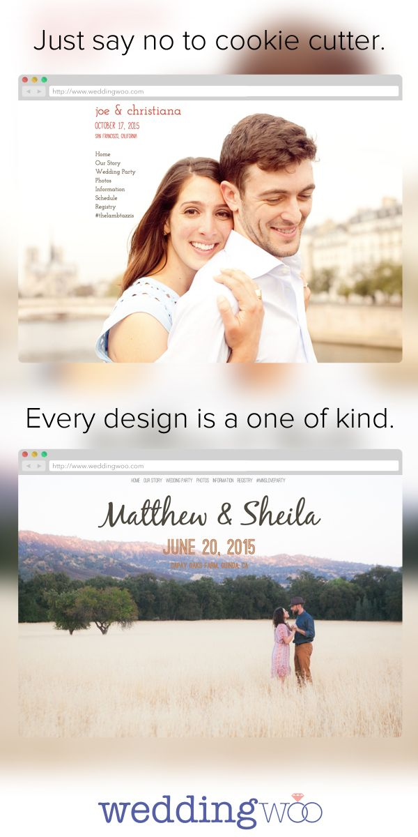 Weddingwoo Build A Unique Wedding Website Every Design Is Always One Of Kind Check Us Out Http Www