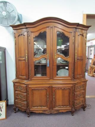 Country French China Cabinet Bookcase Morris Antiques Dining