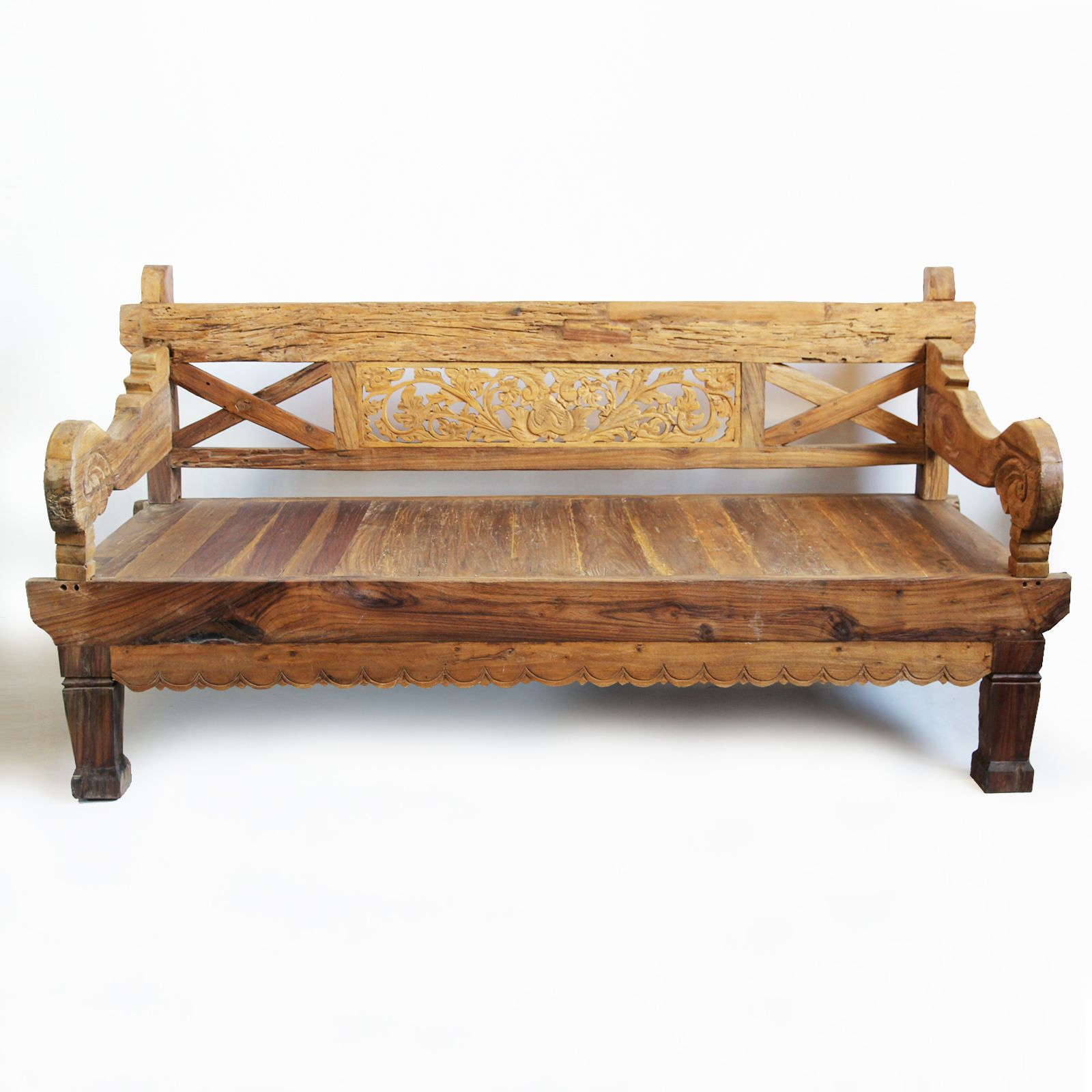 Rustic style teak wood daybed Custom cushions available upon