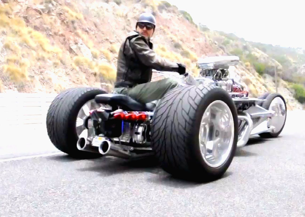 This is an insane motorcycle trike hot rod custom built with 1200 hp custom built suspension the works check it out this motorcycle trike is also known