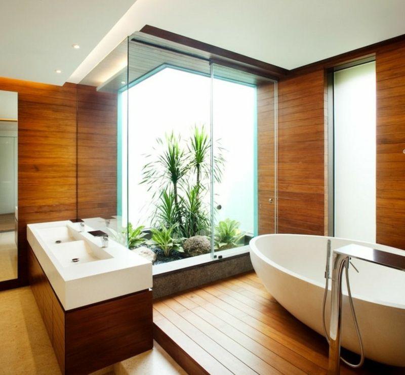 Moderne Badezimmer \u2013 40 luxuriöse Einrichtungsideen Pinterest - parkett für badezimmer