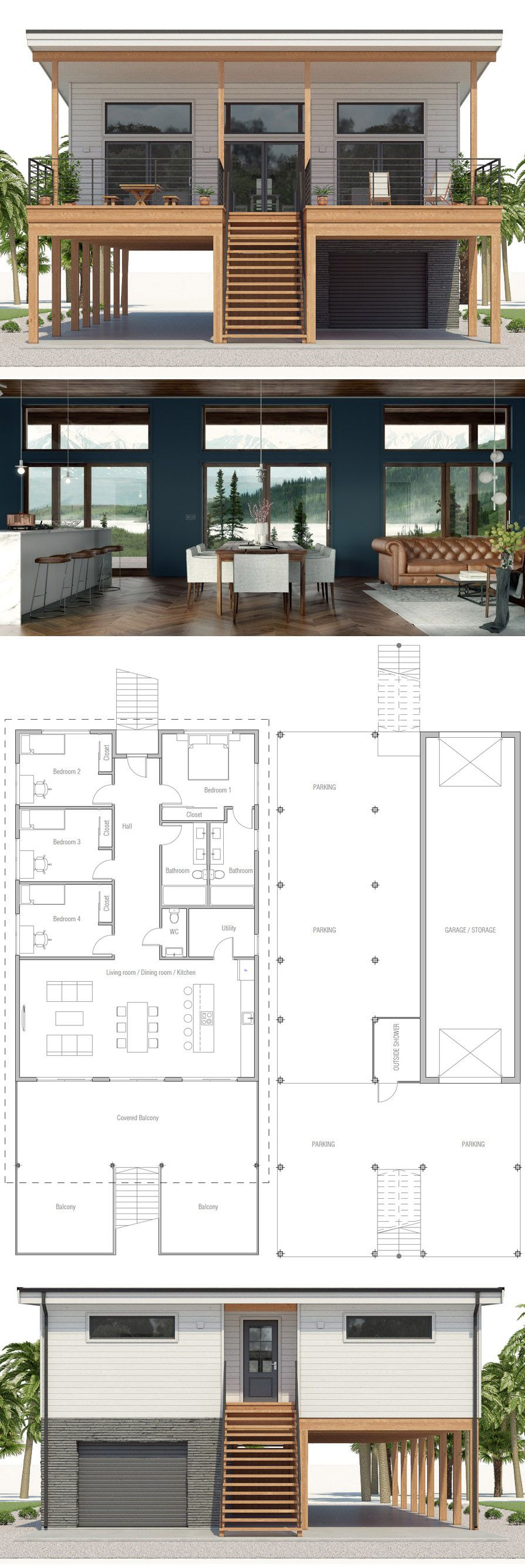 Architecture beach house plan architecture architects