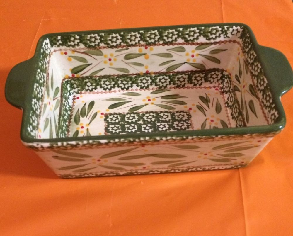 Temptations Old World 1.5 Qt Loaf Pan Beautiful Design Collectible ...