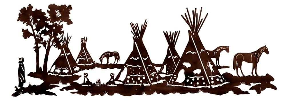 Native American Wall Decor native american tepee village rustic wall art sculpture 42 inch
