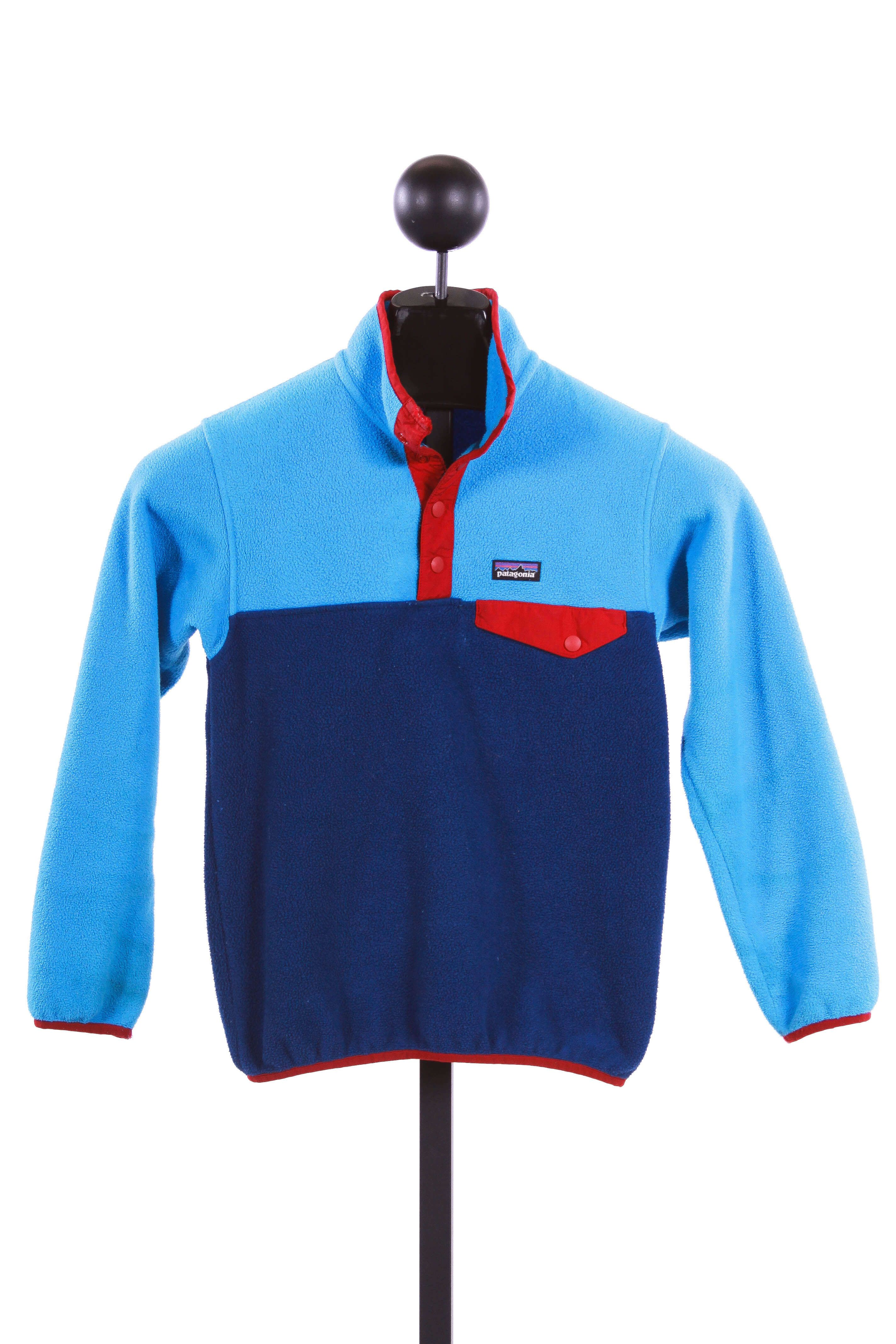 357876a158d Patagonia Boys  Lightweight Synchilla Snap-T Fleece Pullover