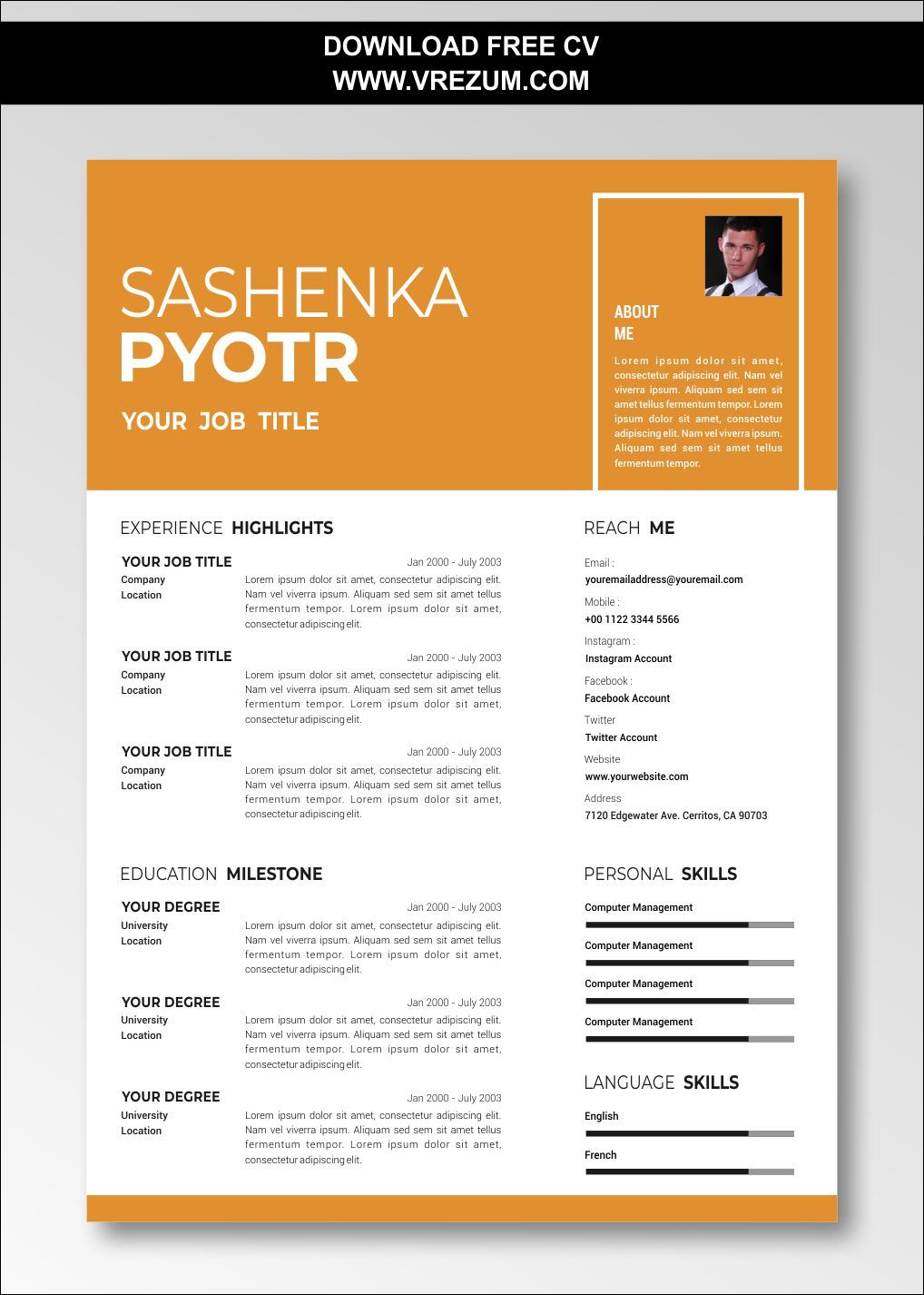 (EDITABLE) FREE CV Templates For Graduate School
