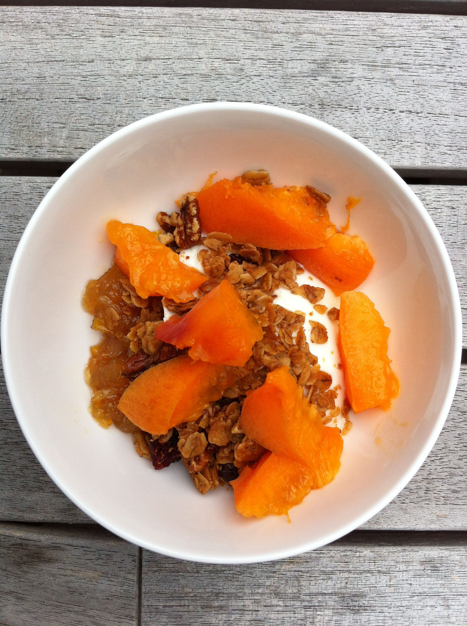Fresh ricotta peaches and granola good mood food diet easy and simple healthy recipes find this pin and more on good mood food forumfinder Gallery