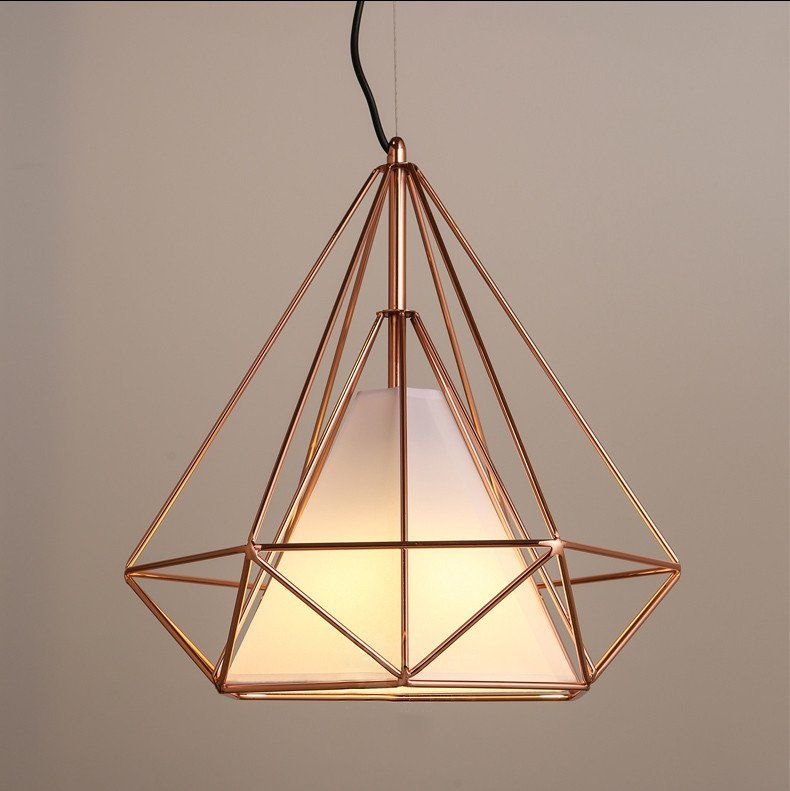 Copper diamond wire cage pendant light pendant lighting copper diamond wire cage pendant light aloadofball Choice Image