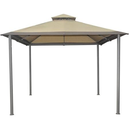 Mainstays Savvi 10 X 10 Outdoor Gazebo In Beige Walmart Com Patio Gazebo Outdoor Pergola Outdoor Gazebos