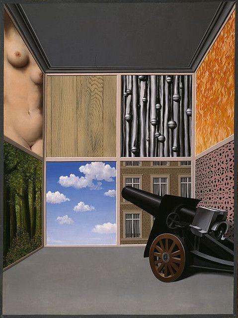 Au seuil de la liberté,1937, René Magritte, Huile sur toile, 239x185,5cm, Rotterdam, Museum Boijmans Van Beuningen