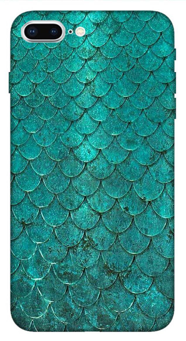 iPhone 8 Plus Case Teal Green Mermaid Scales Mermaid