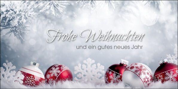 Weihnachtskarten 2016 für Firmen - Silberne Weihnachtsgrüße - Artikel 11310 - Harmonische Weihnachtsgrüße