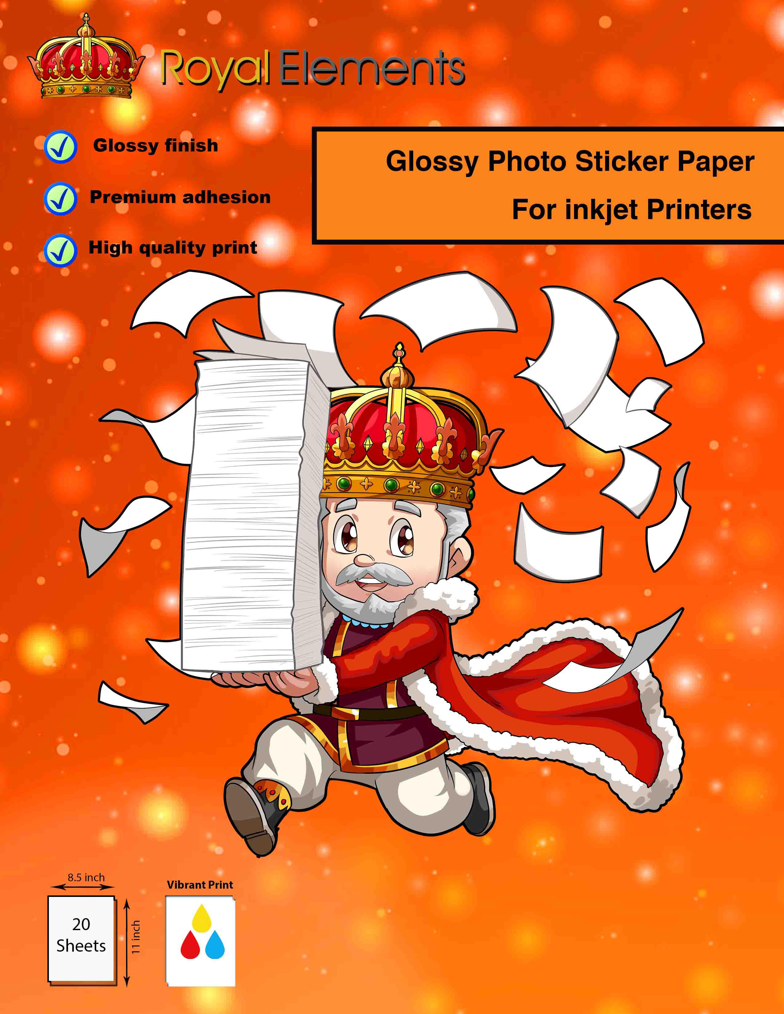 Royal Elements Photo Sticker Paper Sticker Photo Paper Waterslide Decal Paper Decal Paper