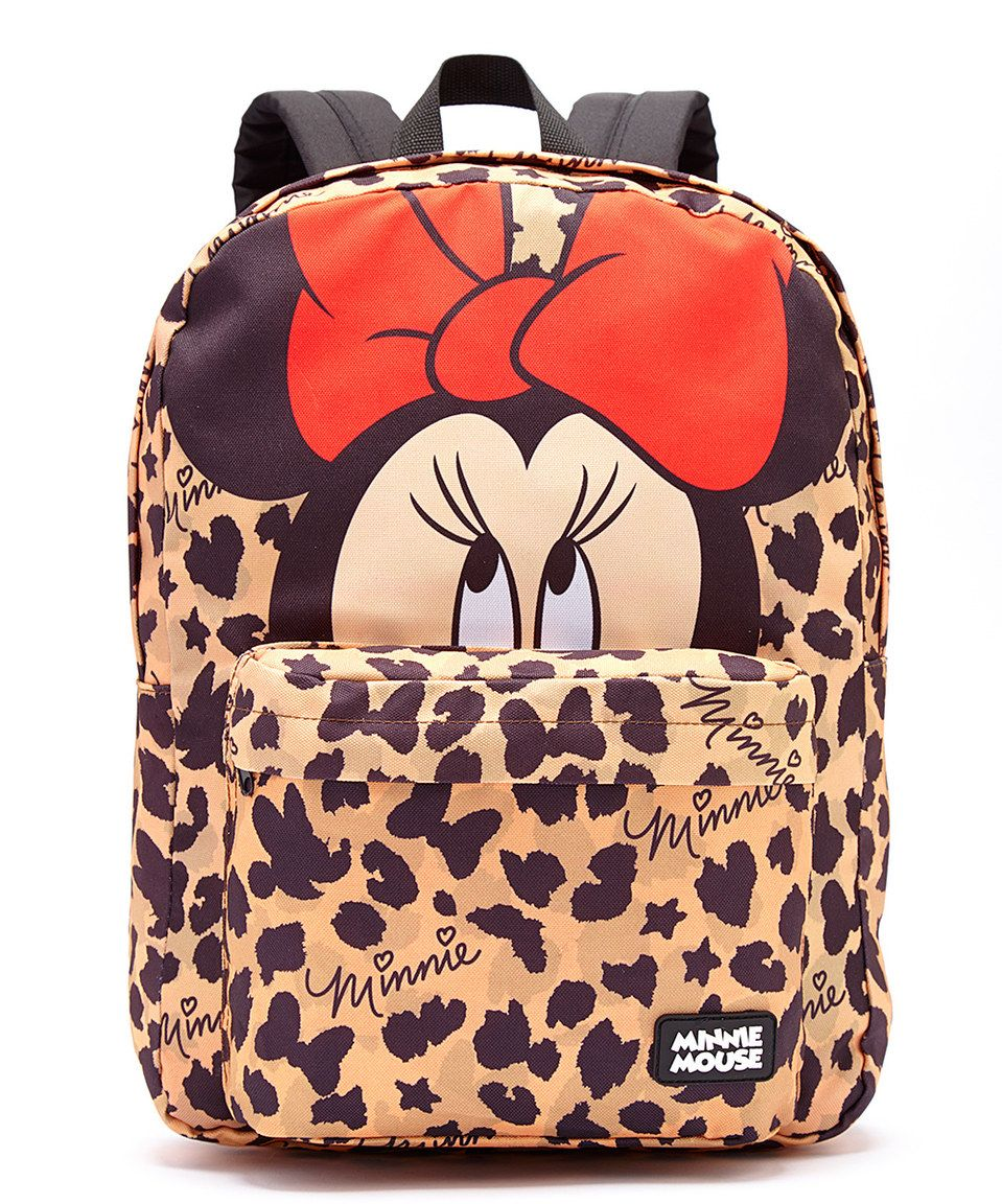 Look at this #zulilyfind! Leopard Minnie Mouse Backpack by Mickey Mouse & Minnie Mouse #zulilyfinds