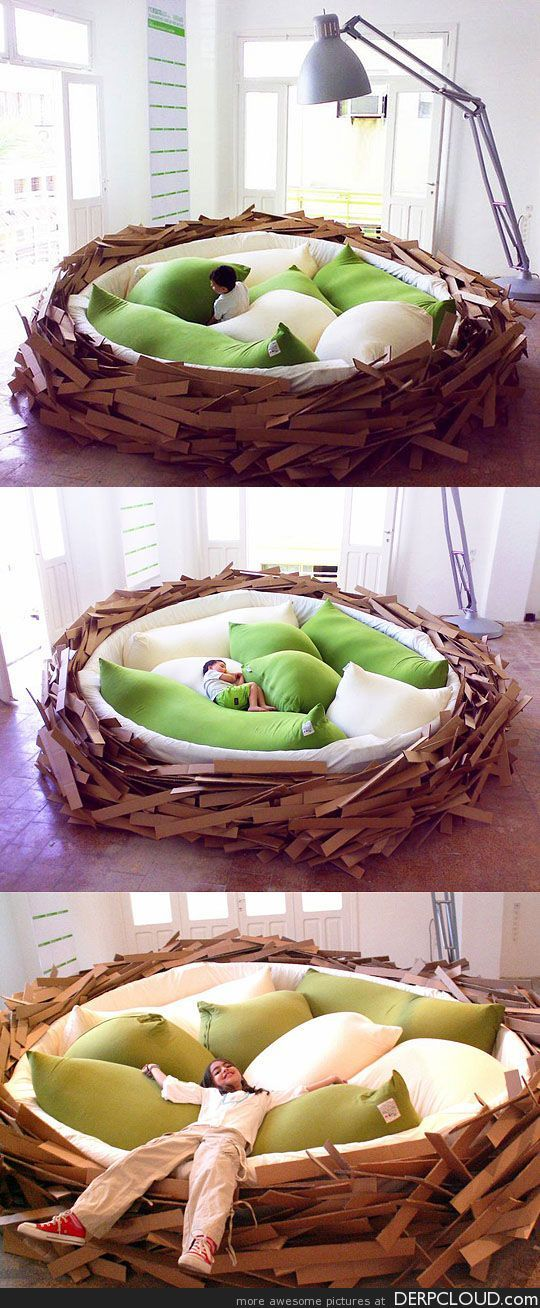 Awesome bird nest bed Stil, Møbler, Puder