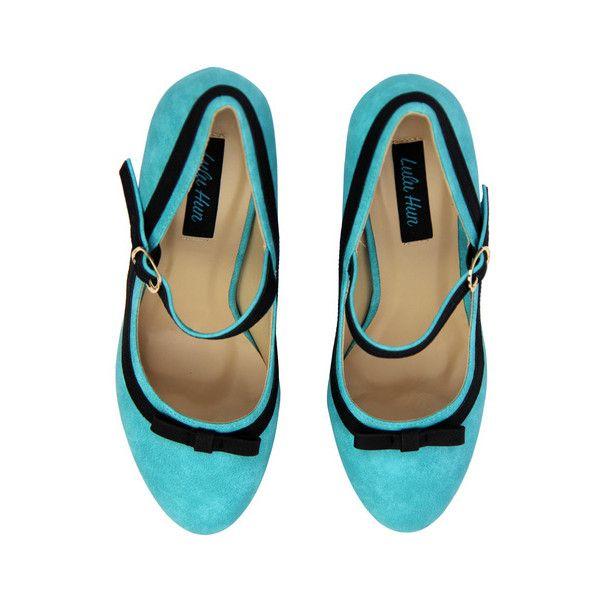 970a6c796df0 LULU HUN Debbie Retro 60s Suede Mary Jane High Heels in Mint ( 12 ...