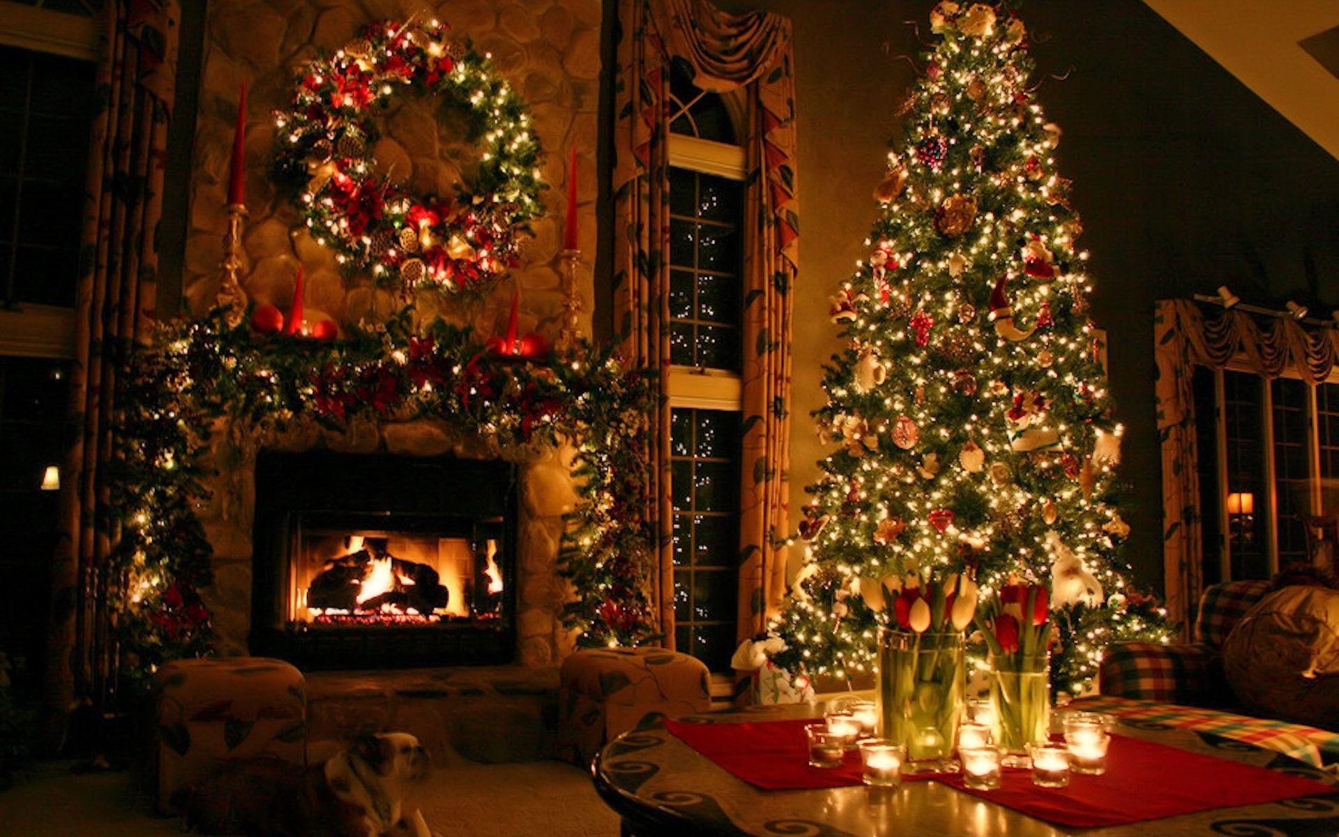 21 Stunningly Beautiful Christmas Desktop Wallpapers Web Design Mash Christmas Desktop Christmas Fireplace Beautiful Christmas Trees