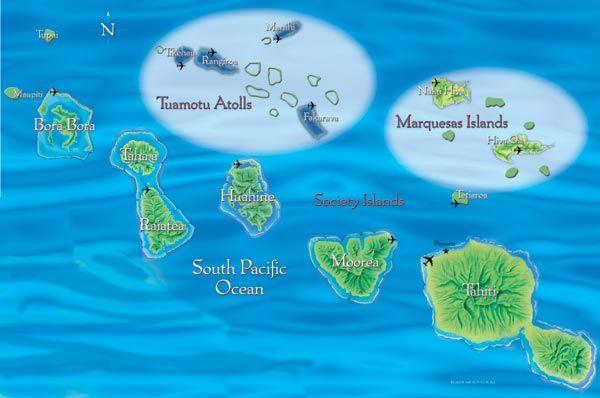 Map of the Islands of Tahiti Love how Tahiti looks like a turtle