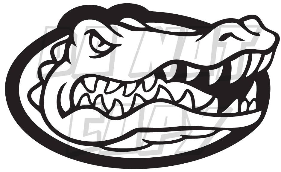 Florida Gators Football Gator Head Vinyl Decal One Color